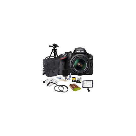 Nikon D SLR Camera NIKKOR VR Lens Bundle GB SD Memory Card Camera Holster Bag Pro Optic CPLUV Filter 89 - 229