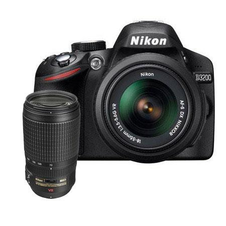 Nikon D DSLR Camera f G AF S DX VR Lens Bundle f G ED IF AF S VR Lens Camera Bag and Filter Kit UV C 102 - 740