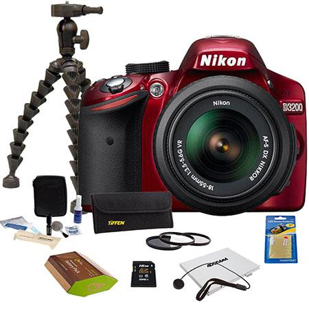 Nikon D Digital SLR Camera NIKKOR VR Lens Bundle GB SD Memory Card Camera Bag Photo Essentials Filte 162 - 58