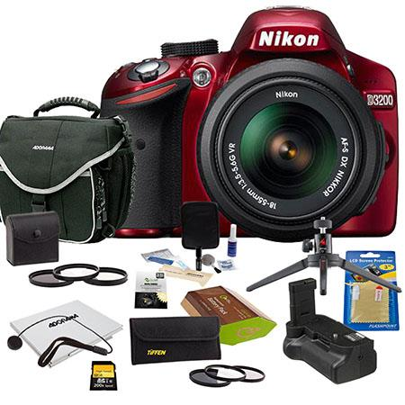 Nikon D DSLR Camera NIKKOR VR Lens Bundle GB SD Memory Card Camera Bag Photo Essentials Filter Kit S 59 - 363