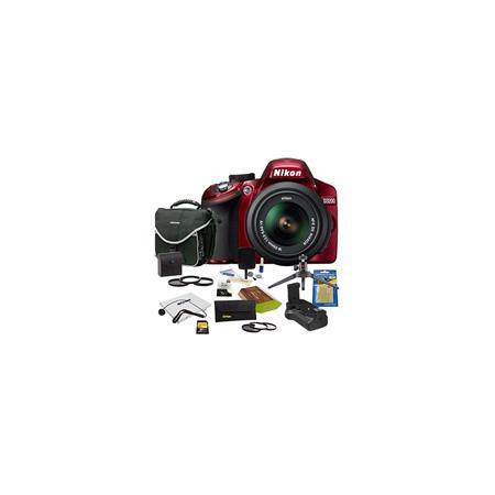 Nikon D DSLR Camera NIKKOR VR Lens Bundle GB SD Memory Card Camera Bag Photo Essentials Filter Kit S 216 - 433