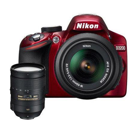 Nikon D DSLR Camera f G AF S DX VR Lens Bundle f G ED IF AF S VR Lens Camera Bag and Filter Kit UV C 227 - 623