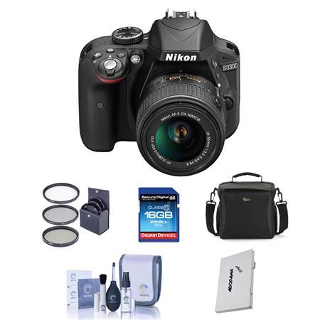 Nikon D MP DX Format DSLR Camera Body f G VR Lens Bundle Sandisk GB CL SDHC Card LowePre Shoulder Ca 12 - 776