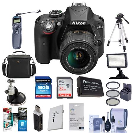Nikon D MP DX Format DSLR Camera Body f G VR Lens Bundle Sandisk GB Extreme CL SDHC Card LowePre Hol 122 - 296