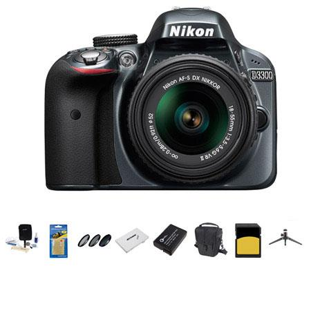 Nikon D MP DX Format DSLR Camera Body f G VR Lens Grey Bundle Sandisk GB Extreme CL SDHC Card LowePr 164 - 578