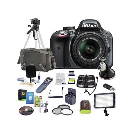 Nikon D MP DX Format DSLR Camera Body VR Lens Grey Bundle Sandisk GB Extreme SDHC Card LowePre Holst 303 - 8