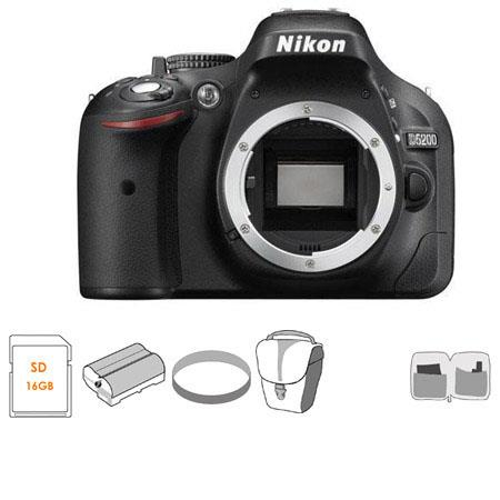 Nikon D Megapixel DX Format Digital SLR Camera Body Bundle GB SDHC Memory Card Spare Li Ion Battery  100 - 291