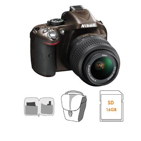 Nikon D DX Format Digital SLR Camera Kit f G AF S DX VR Lens Bronze Bundle GB SDHC Memory Card Carry 69 - 652