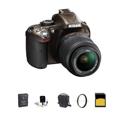 Nikon D DX Format Digital SLR Camera Kit f G AF S DX VR Lens Bronze Bundle GB SDHC Memory Card Spare 120 - 117