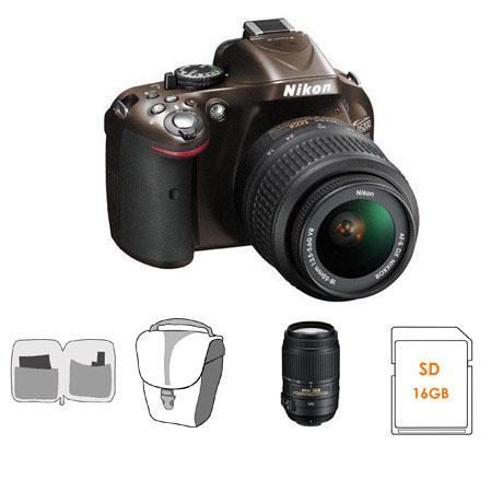 Nikon D DX Format Digital SLR Camera DX VR Lens Bronze Bundle Nikon DX VR Lens GB SDHC Memory Card C 88 - 74