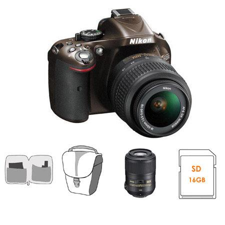Nikon D DX Format Digital SLR Camera DX VR Lens Bronze Bundle Nikon VR Lens GB SDHC Memory Card Came 105 - 560