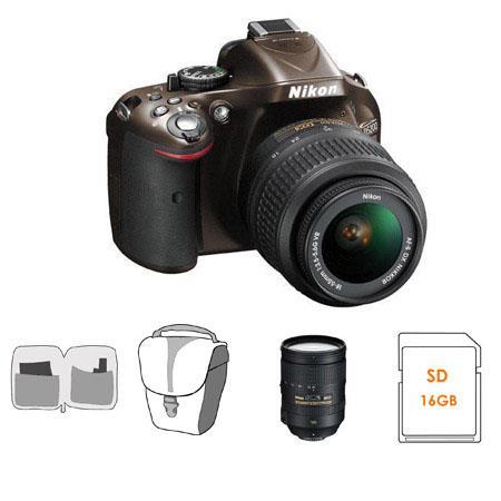 Nikon D DX Format Digital SLR Camera DX VR Lens Bronze Bundle Nikon VR Lens GB SDHC Memory Card Came 107 - 514