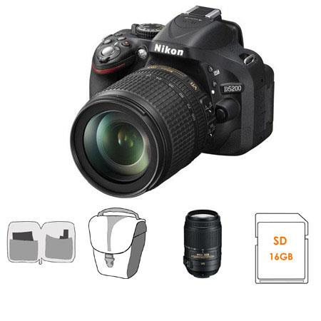 Nikon D DX Format Digital SLR Camera DX VR Lens Bundle Nikon DX VR Lens GB SDHC Memory Card Camera C 90 - 520