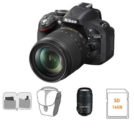 Nikon D DX Format Digital SLR Camera DX VR Lens Bundle Nikon DX VR Lens GB SDHC Memory Card Camera C 226 - 301