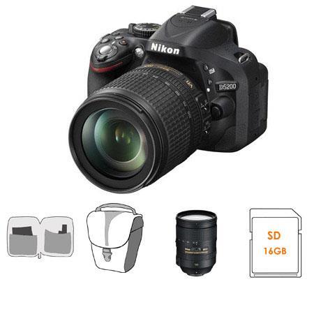 Nikon D DX Format Digital SLR Camera DX VR Lens Bundle Nikon VR Lens GB SDHC Memory Card Camera Carr 74 - 286