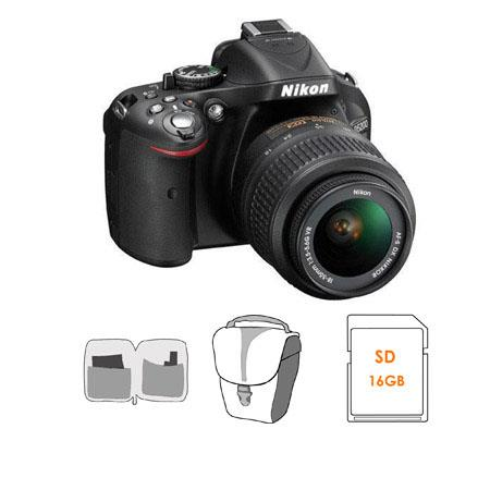 Nikon D DX Format Digital SLR Camera Kit f G AF S DX VR Lens Bundle GB SDHC Memory Card Camera Bag L 126 - 138
