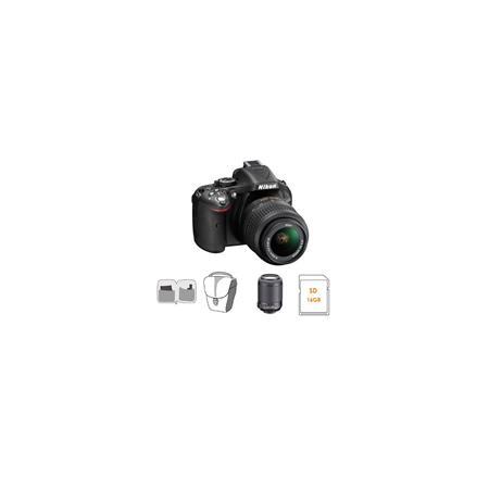 Nikon D DX Format Digital SLR Camera Kit DX VR Lens Bundle Nikon DX VR Lens GB SDHC Memory Card Came 42 - 171