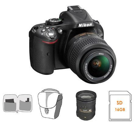 Nikon D DX Format Digital SLR Camera DX VR Lens Bundle Nikon DX VR Lens GB SDHC Memory Card Camera C 162 - 228