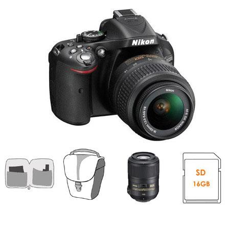 Nikon D DX Format Digital SLR Camera DX VR Lens Bundle Nikon VR Lens GB SDHC Memory Card Camera Carr 129 - 64