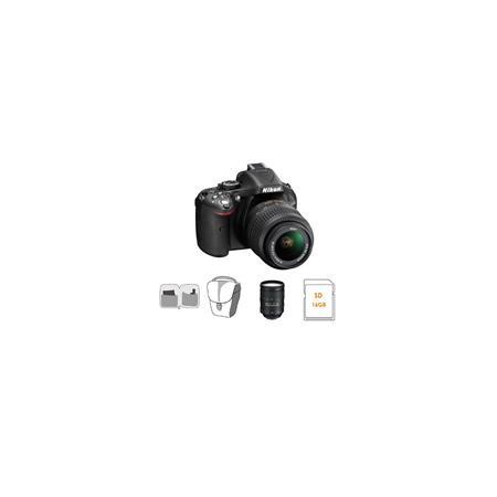 Nikon D DX Format Digital SLR Camera DX VR Lens Bundle Nikon VR Lens GB SDHC Memory Card Camera Carr 107 - 514