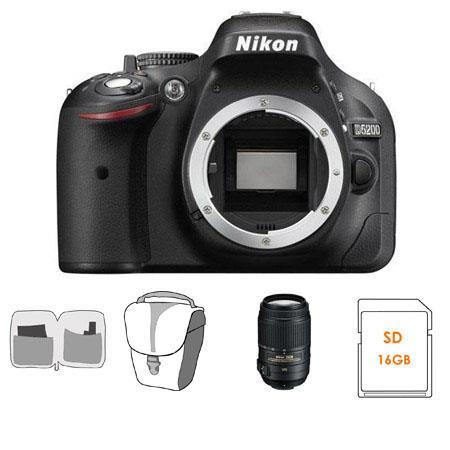 Nikon D Megapixel DX Format Digital SLR Camera Body Bundle Nikon DX VR Lens GB SDHC Memory Card Came 129 - 110