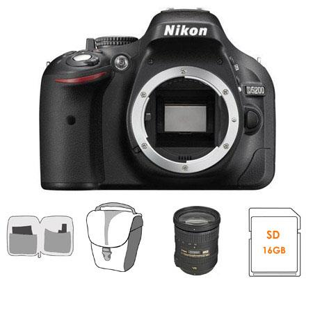 Nikon D Megapixel DX Format Digital SLR Camera Body Bundle Nikon DX VR Lens GB SDHC Memory Card Came 552 - 78