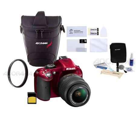 Nikon D DX Format Digital SLR Camera Kit f G AF S DX VR Lens Bundle GB SDHC Memory Card Carrying Cas 126 - 138