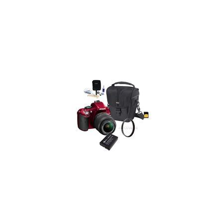 Nikon D DX Format Digital SLR Camera Kit f G AF S DX VR Lens Bundle GB SDHC Memory Card Spare Li Ion 55 - 287
