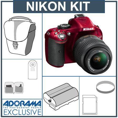 Nikon D DX Format Digital SLR Camera Kit f G AF S DX VR Lens Bundle GB SDHC Memory Card Spare Li Ion 87 - 72