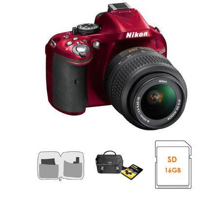Nikon D DX Format Digital SLR Camera VR Lens Bundle Nikon Camera Bag DVD Set GB SDHC Memory Card Len 81 - 493