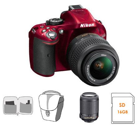 Nikon D DX Format Digital SLR Camera Kit DX VR Lens Bundle Nikon DX VR Lens GB SDHC Memory Card Came 129 - 110