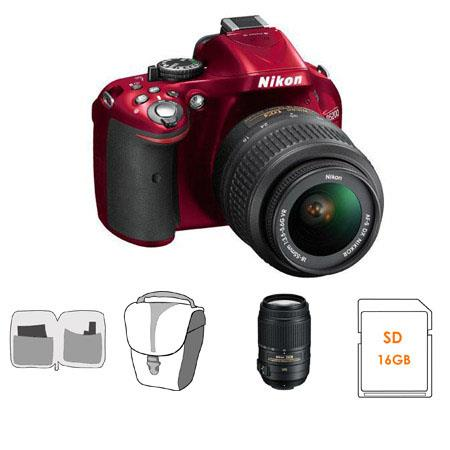 Nikon D DX Format Digital SLR Camera DX VR Lens Bundle Nikon DX VR Lens GB SDHC Memory Card Camera C 88 - 394