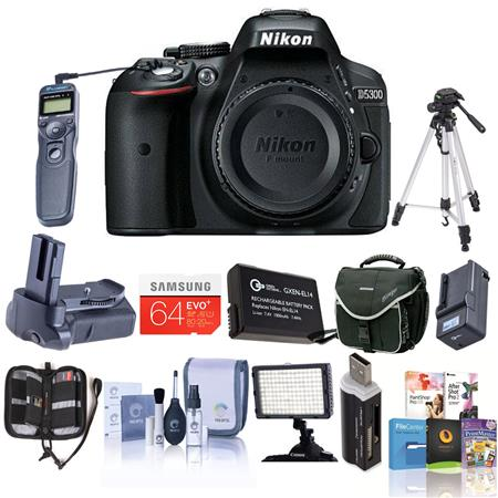 Nikon D Megapixel DX Format Digital SLR Camera Body Bundle Slinger Holster Case GB Ultra SDHC UHS CL 55 - 287