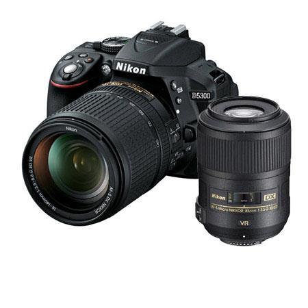 Nikon D DX Format DSLR Camera AFS DX f G ED VR Lens Bundle fG AF S DX Micro ED VR II Lens Camera Bag 133 - 483