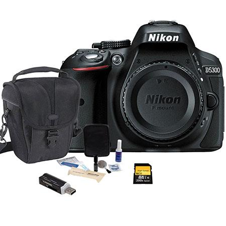 Nikon D Megapixel DX Format Digital SLR Camera Body Grey Bundle Camera Bag GB Ultra SDHC CL Card Cle 141 - 288