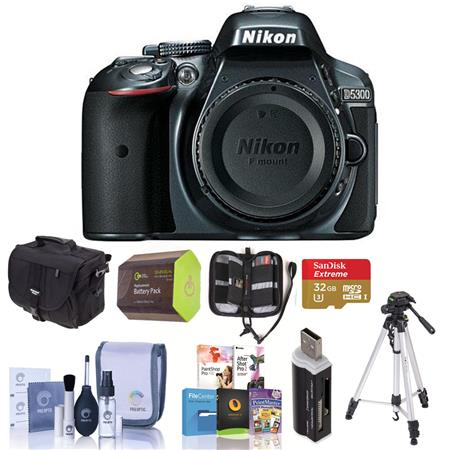 Nikon D Megapixel DX Format Digital SLR Camera Body GREY Bundle Camera Bag GB Ultra SDHC CL Card Spa 137 - 58