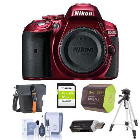 Nikon D Megapixel DX Format Digital SLR Camera Body RED Bundle Slinger Holster Case GB Ultra SDHC CL 137 - 58