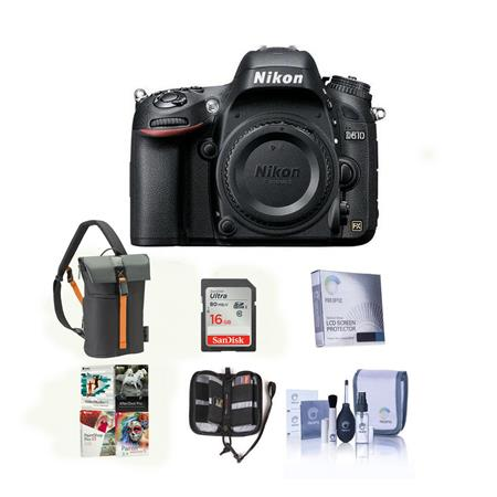 Nikon D FX format DSLR Camera Body BUNDLE GB Class SDHC Card Camera Case and Spare Lithium Battery 134 - 362