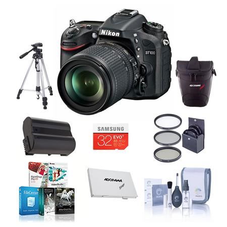 Nikon D DX format Digital SLR Camera VR Lens Bundle GB Class SDHC Memory Card Spare Li Ion Battery N 88 - 613