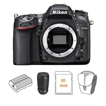 Nikon D DX format Digital SLR Camera Body Bundle Nikon f G ED IF AF S VR Lens Spare Li Ion Battery G 123 - 704