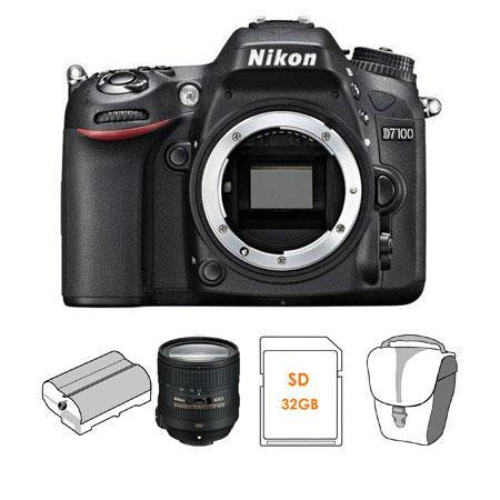 Nikon D DX format Digital SLR Camera Body Bundle VR Lens Spare Battery GB SDHC Memory Card Camera Ca 82 - 758
