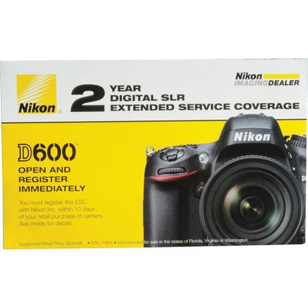 Nikon Year Extended Service Coverage Agreement the Nikon D Digital SLR Cameras 108 - 797