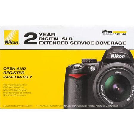 Nikon Year Extended Service Coverage Agreement the Nikon D D DSLR Cameras 249 - 402