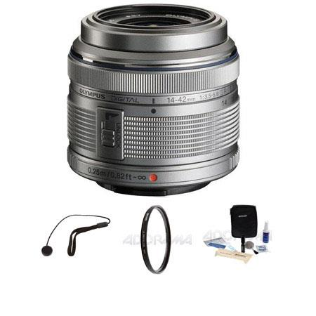 Olympus M Zuiko Digital f Lens Silver Micro Four Thirds System Bundle Bundle Tiffen UV Filter Lens C 85 - 529