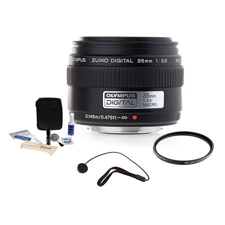 Olympus Zuiko f E ED Digital Macro Lens the E Digital SLR System Tiffen UV Filter Lens Cap Leash Pro 106 - 415