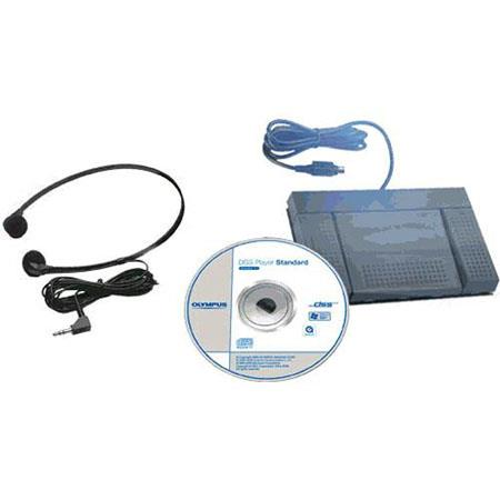 Olympus AS Transcription Kit E Stereo Headset and RS Footswitch Compatible DS WS VN Series Recorders 64 - 466