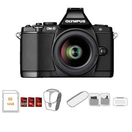 Olympus OM D E M Mirrorless Digital Camera Olympus f EZ Zoom Lens Bundle GB SD Memory Card Camera Ca 77 - 84