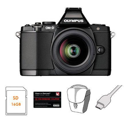 Olympus OM D E M Mirrorless Digital Camera Olympus MZuiko Digital Lens Bundle GB SDHC Card Carry Cas 0 - 557