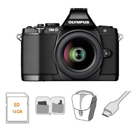 Olympus OM D E M Mirrorless Digital Camera Olympus MZuiko Digital Lens Bundle SanDisk GB Extreme SDH 82 - 357