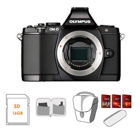 Olympus OM D E M Mirrorless Digital Camera Bundle GB SD Memory Card Camera Case USB Card Reader Lens 82 - 357